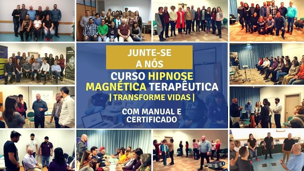 Curso Hipnose Magnética Terapeutica António Andrade Hipnose Porto com Manual e Certificado